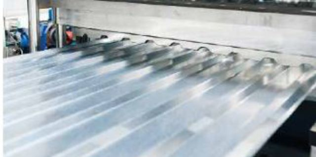 Trapezoidal stainless steel sheets