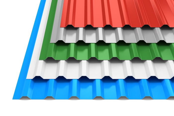 Corrugated painted aluminium
