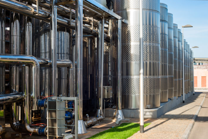 StainlessSteel tanks and pipes