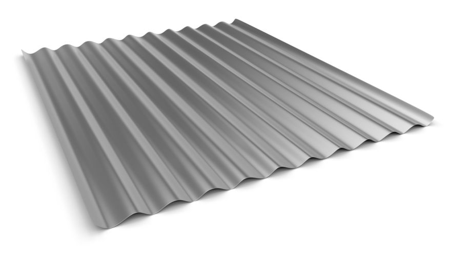 One corrugated sheet