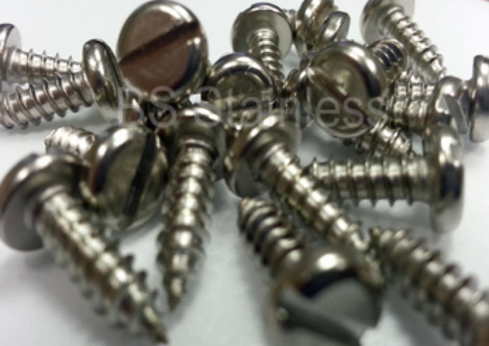 Stainless Steel Pan Head Slotted Self Tapping Screws