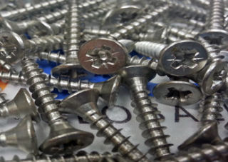Photography of Stainless Steel Pozidrive Wood Screws